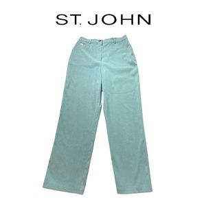 St. John Sport by Marie Gray Turquoise Suede Pants